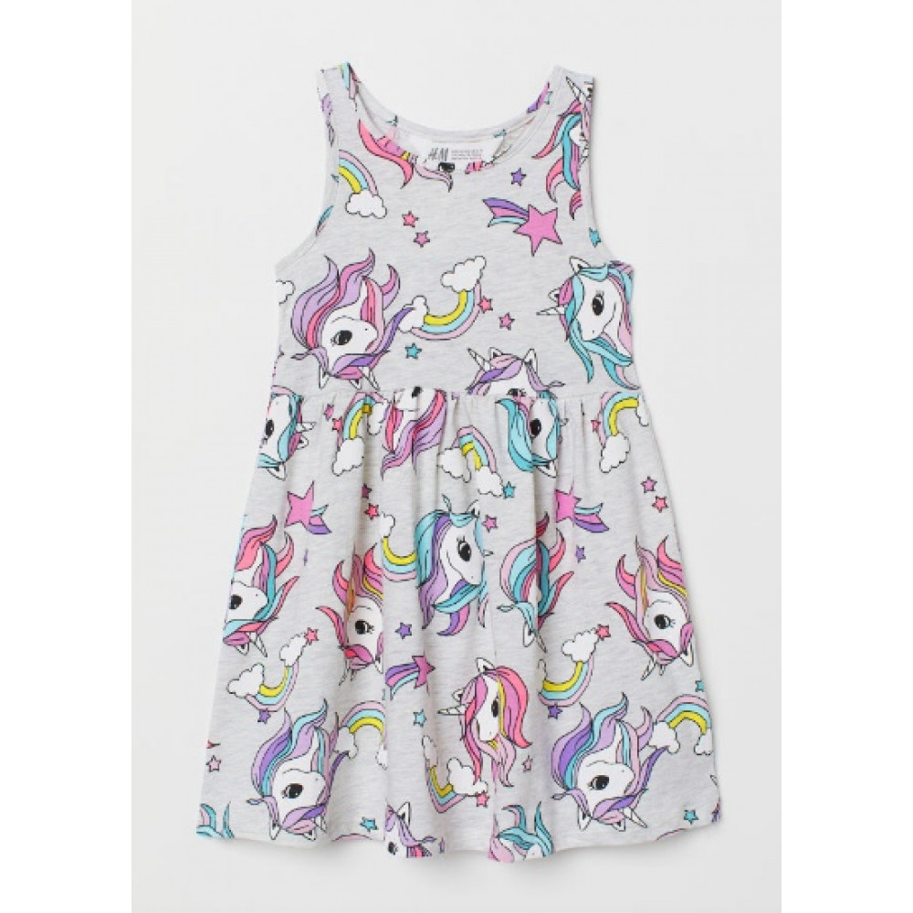Платье H&M  без рукавов в единороги (04583)