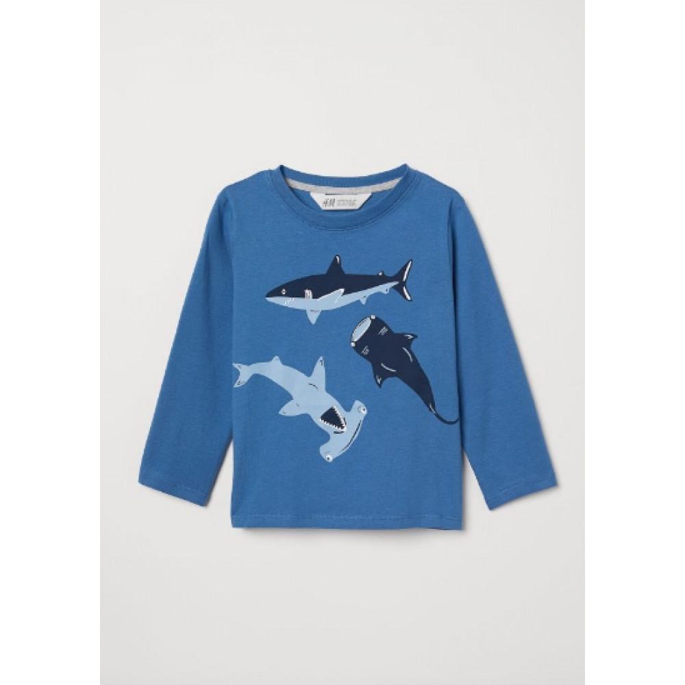 Купить Реглан H&M с рыбками (04779) в Украине
