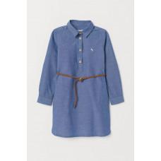 Джинсовое платье H&M с поясом (05076)