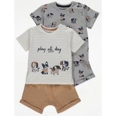 """Набор из 2-х футболок и шорт George """"Dog"""" (05321)"""